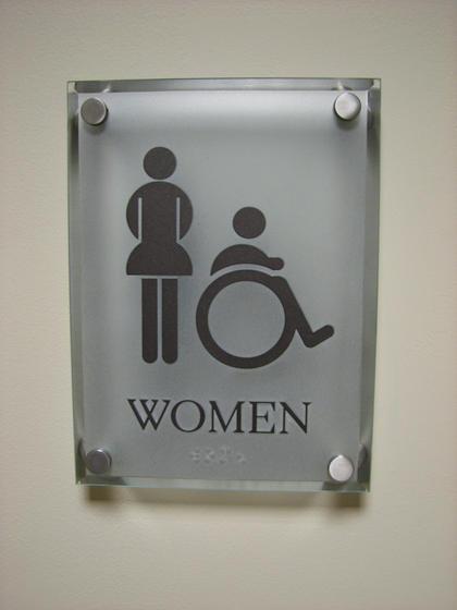 Stainless Steel Bathroom Signs