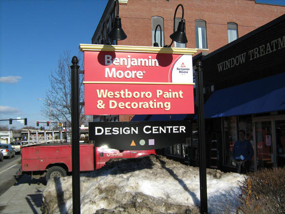 Post Amp Panel Sign Sign Mounted To Posts In Westboro Ma