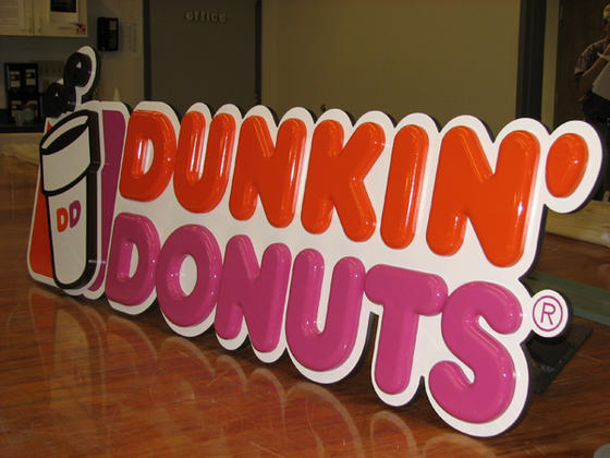 Dunkin Donuts Wall Sign 3d Logo Signs Northborough Ma