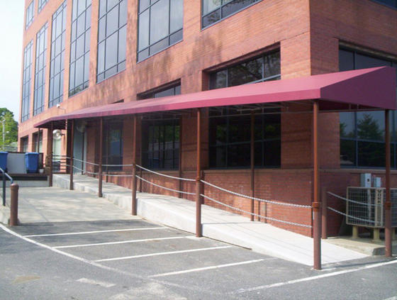 Natick MA Walkway Entrance Canopy Building Ramp