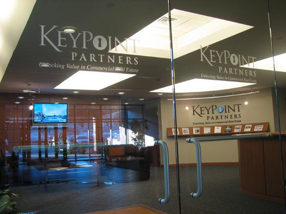 Burlington ma glass door vinyl logo window letters vinyl graphics - Glass office door signs ...