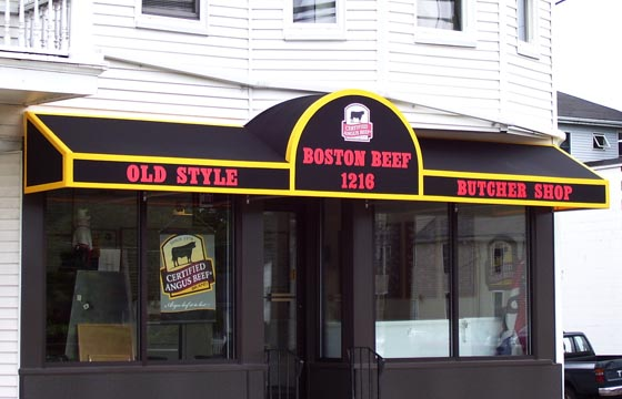 Boston Butcher Shop Store Front Awning Signs