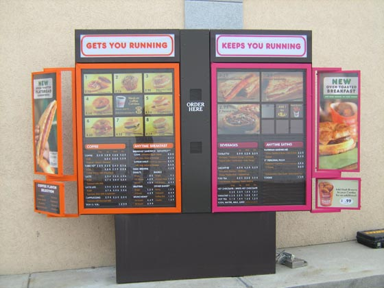Drive Up Menu Signs Drive Thru Menu Sign Menu Display Ma