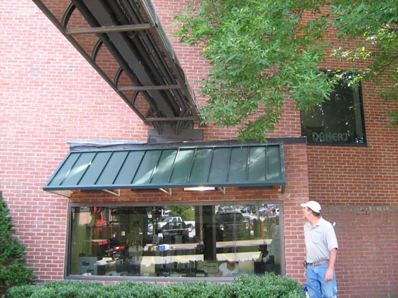 Standing Seam Awnings And Canopies Metal Architectural Awning