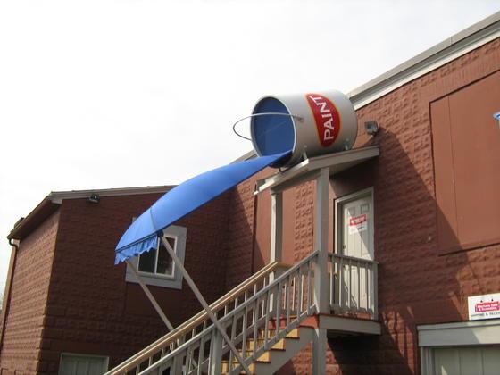 Westborough MA Custom Paint Store Canopy